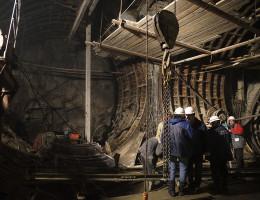 Строительство подземного тоннеля станции метро Геологическая 4