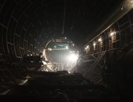 Строительство подземного тоннеля станции метро Геологическая 5