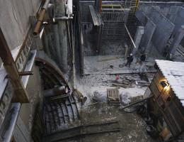 Строительство подземного тоннеля станции метро Геологическая 6